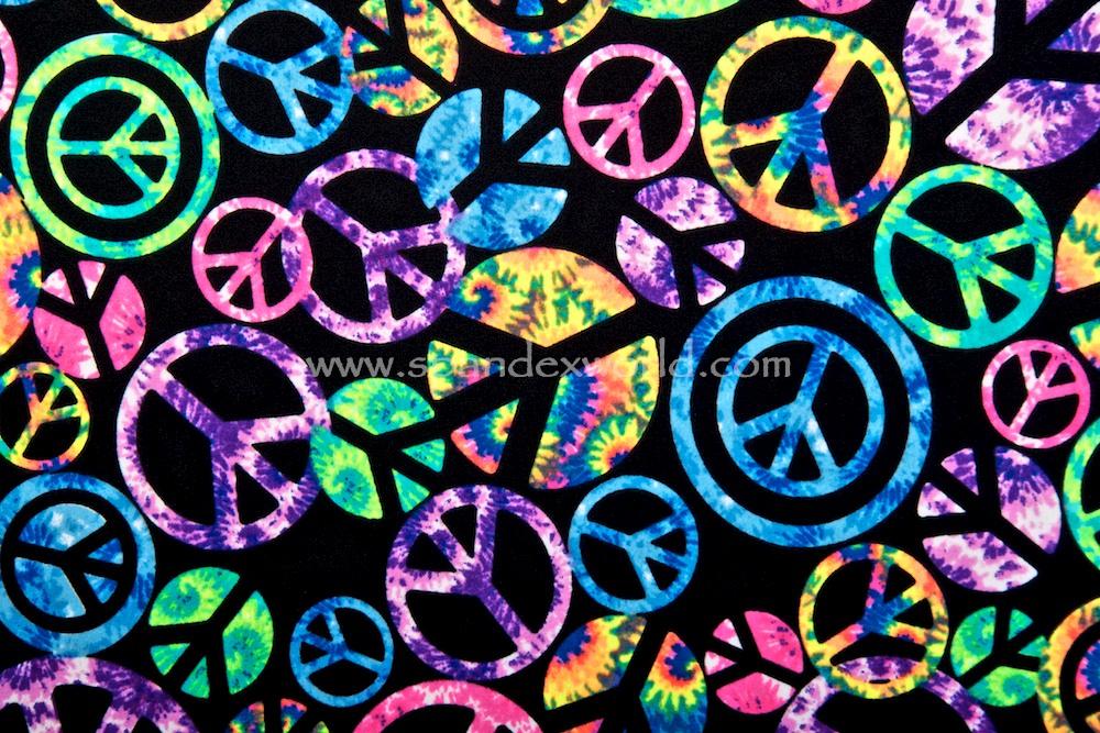Peace sign Prints (Black/Blue/Green/Purple/Multi )