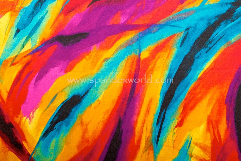 Tie Dye spandex (Red/Turquoise/Orange/Multi)