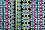 Aztec Print Spandex (Black/Aqua/Fuchsia/Multi)