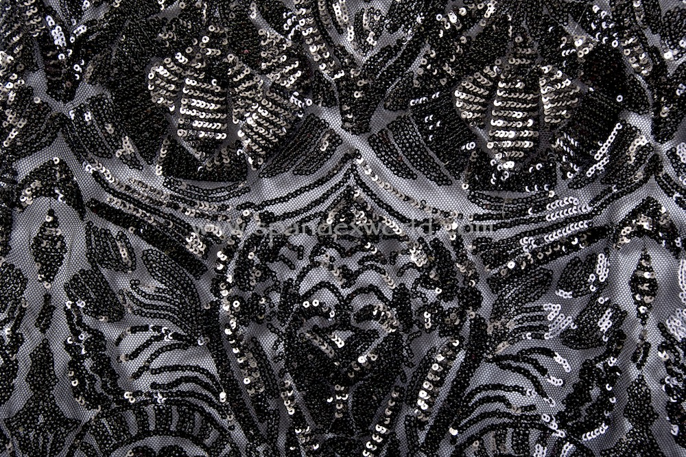 Stretch Sequins (Black/Black)