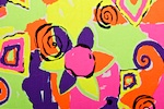Abstract Print (Neon Lime/Hot Pink/Purple/Multi)
