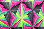 Abstract Print Spandex (Black/Fuchsia/Green/Multi)