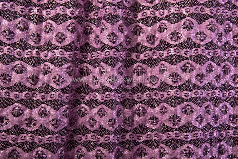 Stretch Metallic Lace (Orchid/Baby Pink)