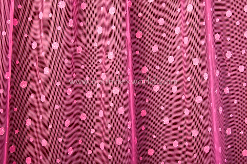 Glitter/Pattern Mesh (Hot Pink/Hot Pink Holo)