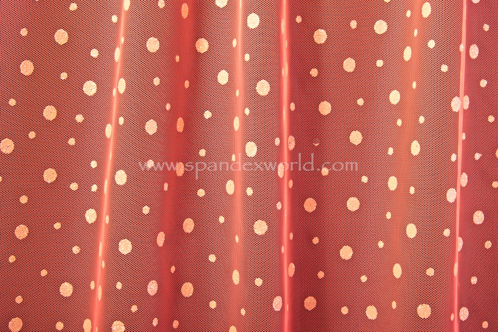 Glitter/Pattern Mesh (Orange/Orange Holo)