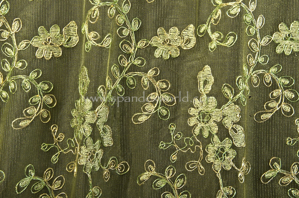 Non Stretch Lace (Green/Green/Gold)