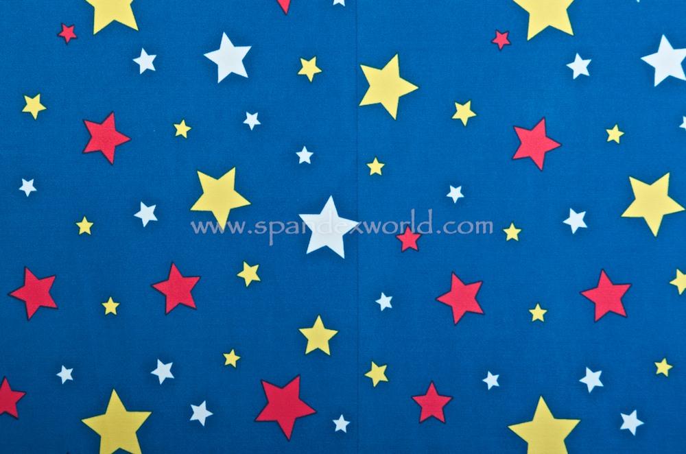 Printed Stars (Royal/White/Multi)
