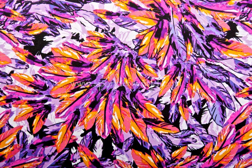 Feathers Prints (Purple/Orange/Multi)