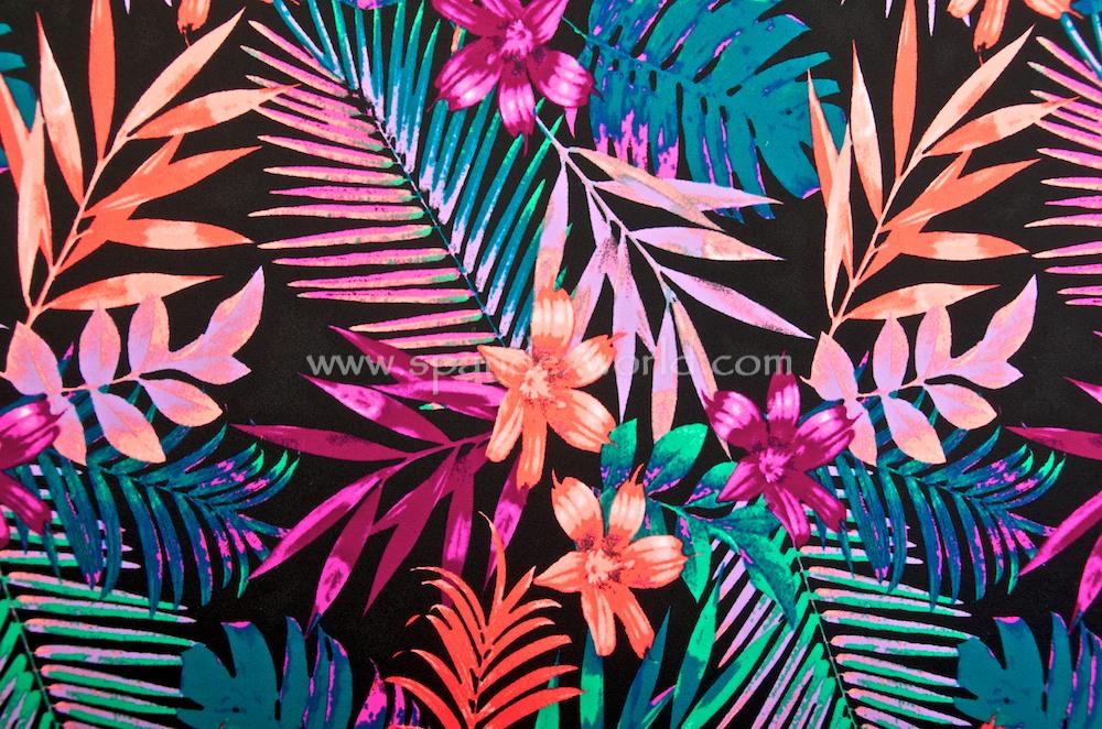 Floral Print (Black/Teal/Coral/Multi)