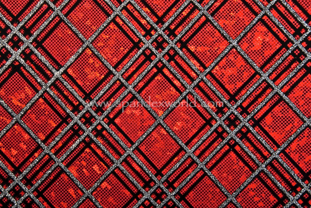 Pattern/Abstract Hologram (Red/Silver/Black)
