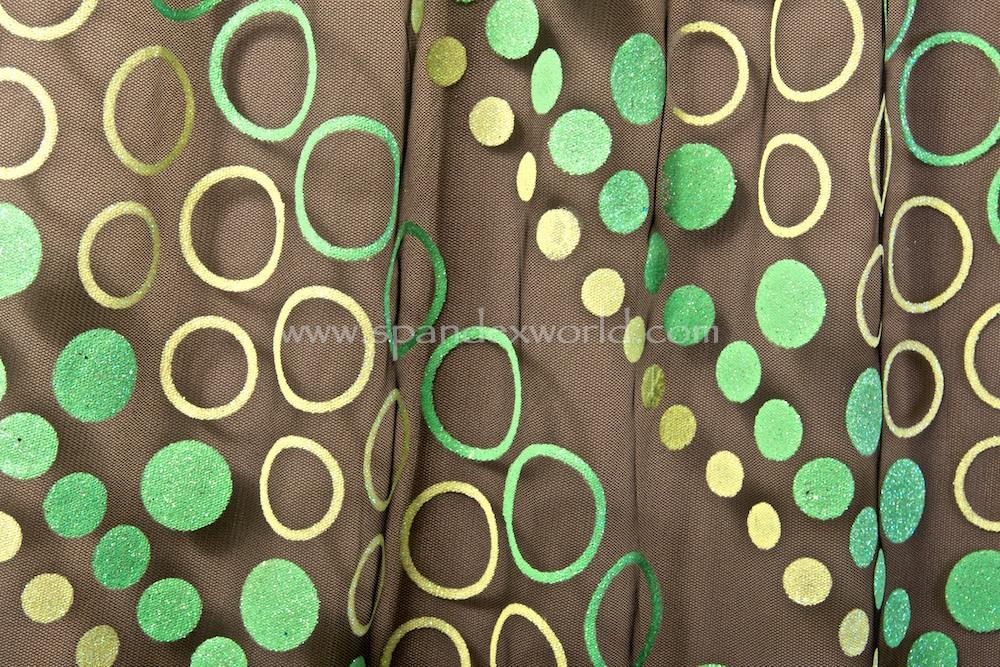 Glitter/Pattern Mesh (Black/Green/Lime Glitter)