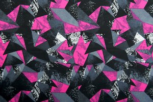 Abstract Print (Black/Fuchsia/Multi)