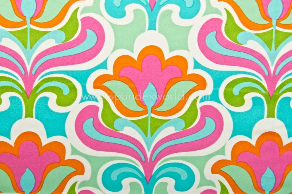Floral Print (White/Aqua/Hot Pink/Multi)