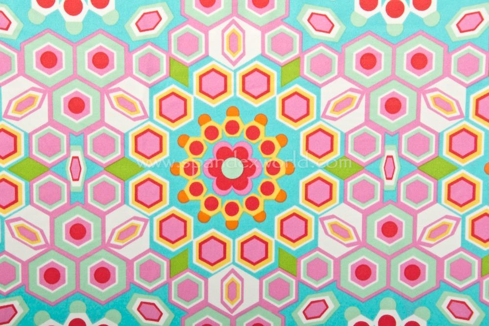 Abstract Print (White/Aqua/Hot Pink/Multi)