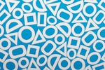 Abstract Print (White/Sky blue)