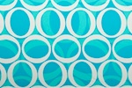 Abstract Print (White/Aqua/Turquoise)