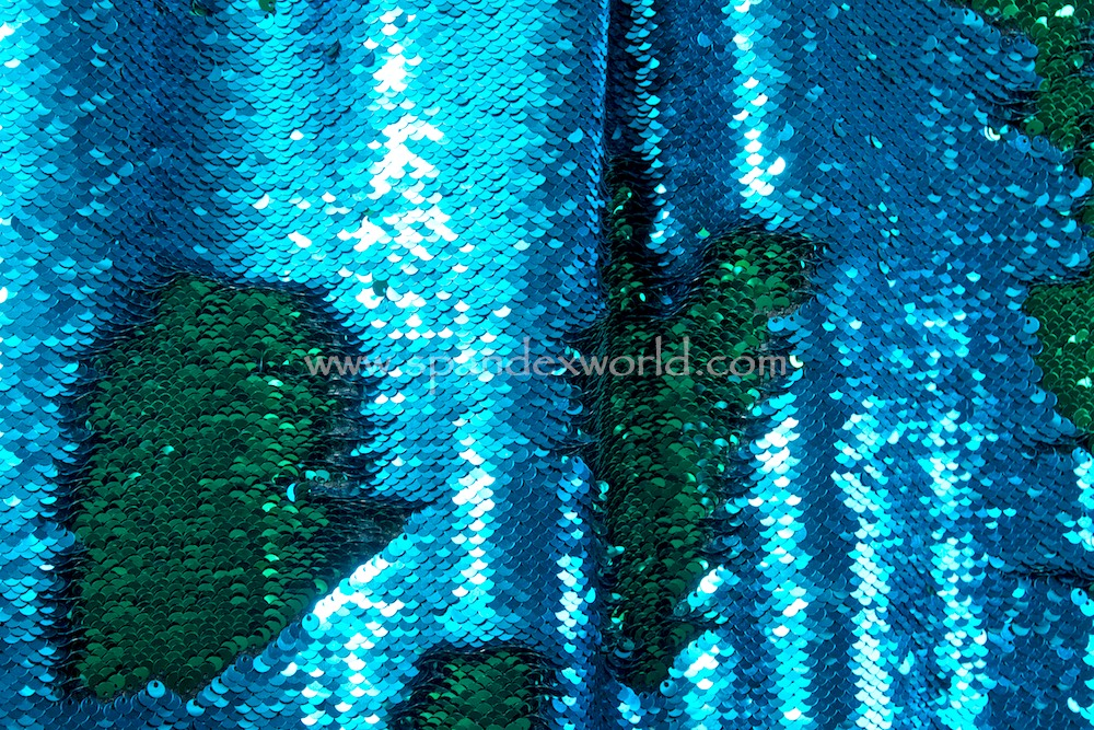 Reversible Stretch Sequins (Royal Blue/Kelly)