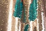 Reversible Stretch Sequins (Aqua/Lt.Copper)