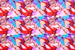 Abstract Print(Blue/Red/Fuchsia/Multicolored)