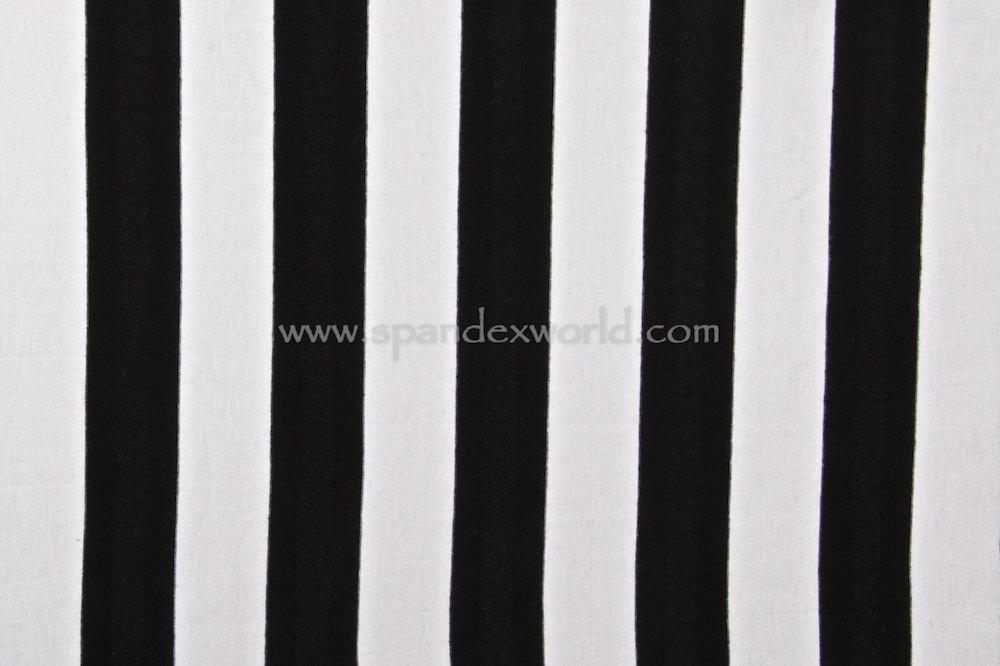 Stripes  Cotton Lycra® 1.5'' Wide  (Black/White)