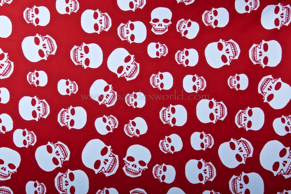Skull Print (Dark Red/White)