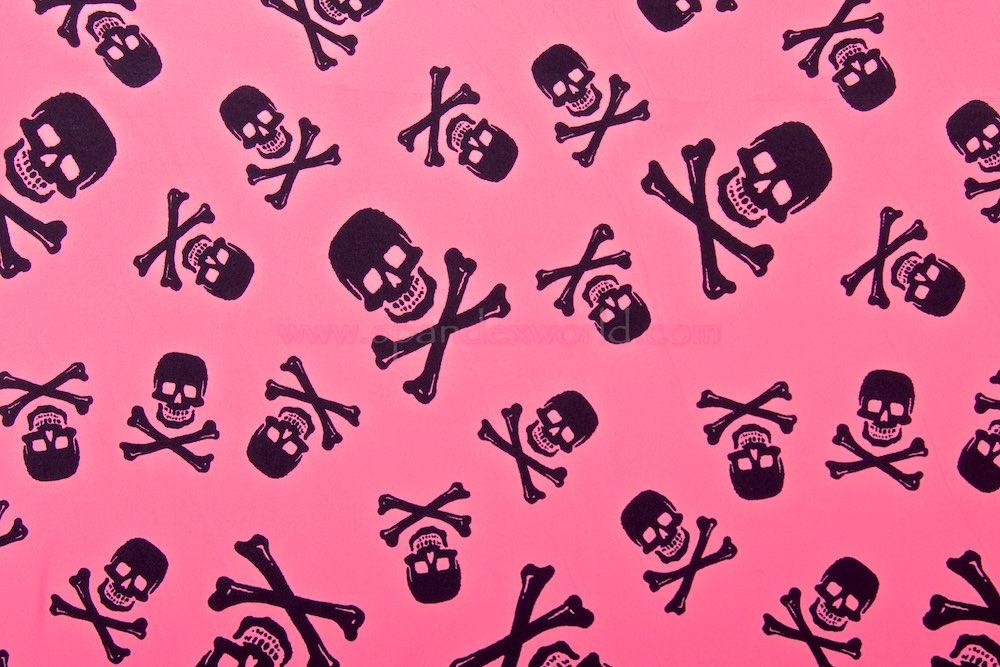 Skull Print (Black/Pink)