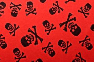 Skull Print (Black/Red)