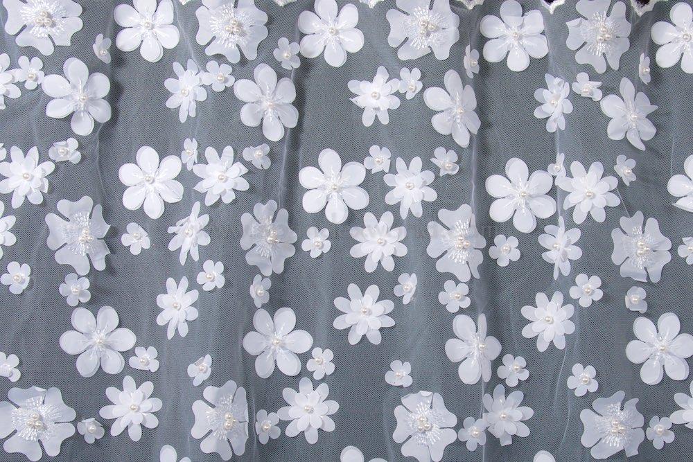 Non-Stretch Lace (White/White)